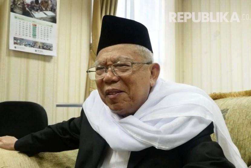 Ketua Umum Majelis Ulama Indonesia (MUI) Ma'aruf Amin