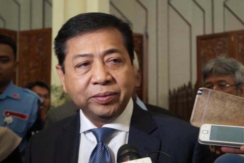 Ketua Umum Partai Golkar yang juga Ketua DPR RI, Setya Novanto