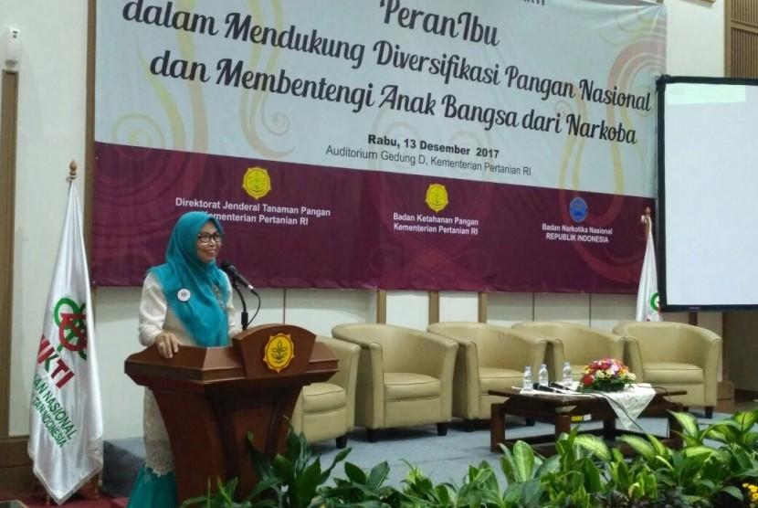 Ketua Umum Wanita Tani Indonesia Himpunan Kerukunan Tani Indonesia (WTI HKTI) Oni Jafar.