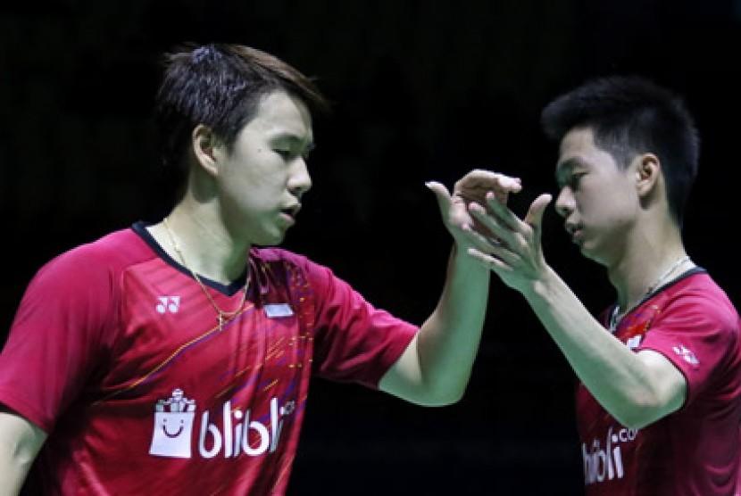 Indonesia Sisakan Marcus/Kevin di Final Cina Terbuka 2017