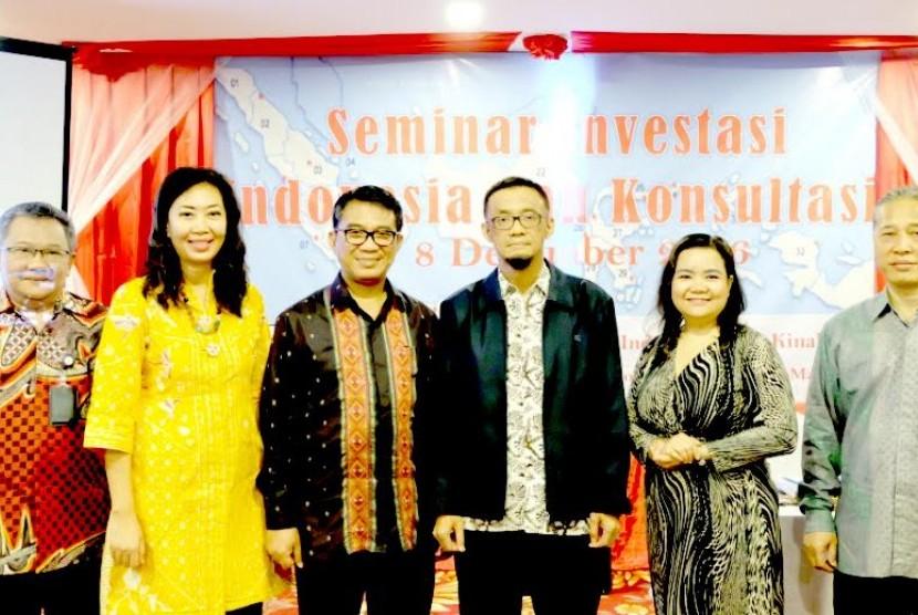 """KJRI Kota Kinabalu mengadakan 'Seminar dan Konsultasi"""" mengenai peluang investasi di Indonesia, Kamis (8/12)."""