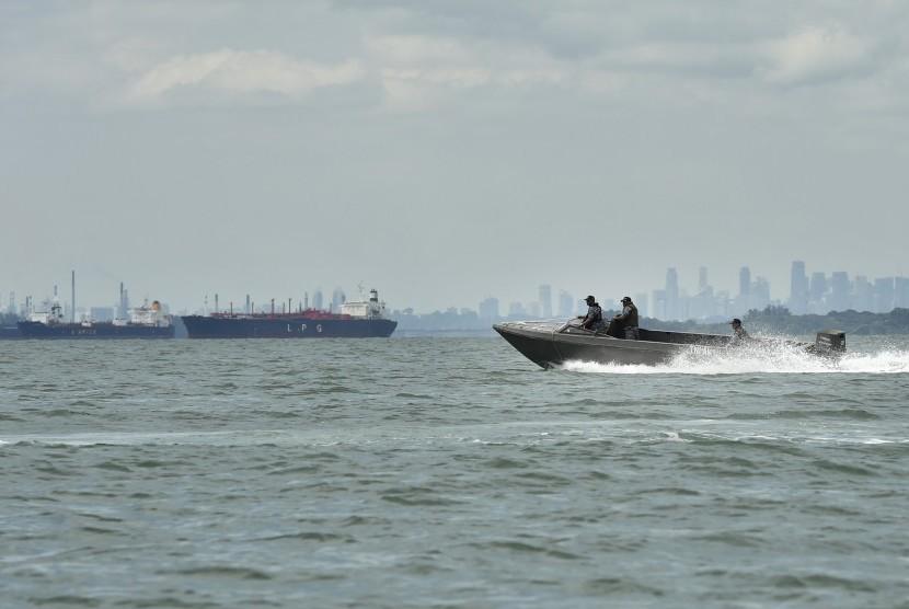 Patroli TNI Angkatan Laut (ilustrasi).