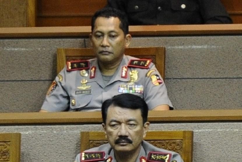Jenderal Budi Gunawan (bawah) dan Komjend Budi Waseso (atas).