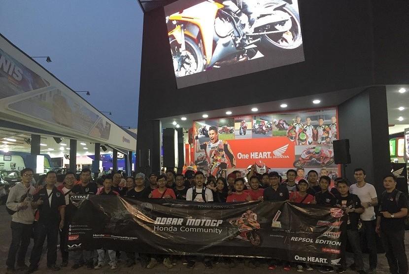 Komunitas Honda nobar MotoGP di Jakarta Fair Kemayoran