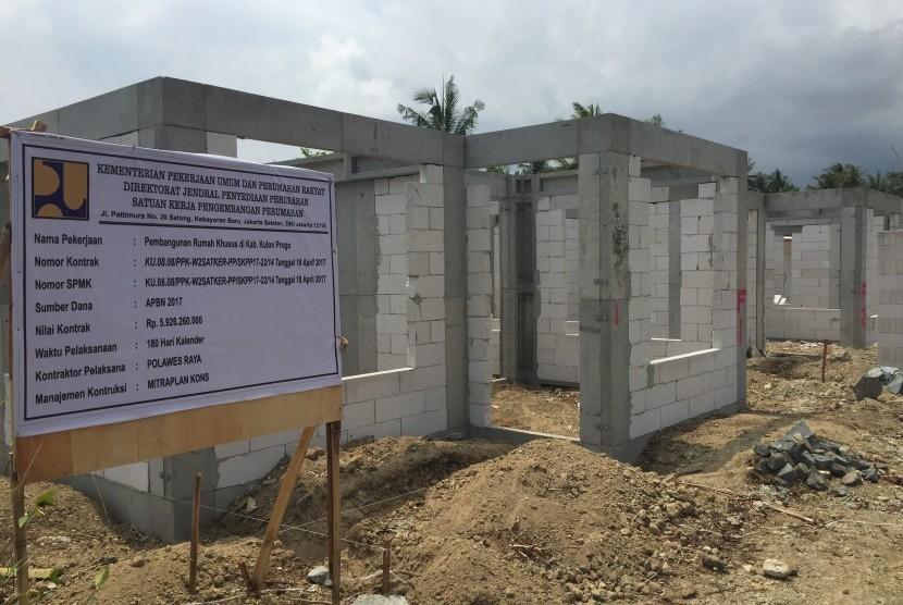 Kondisi bangunan yang jadi tempat relokasi warga yang terkena dampak pembangunan Bandara New Yogyakarta International Airport (NYIA) Kulonprogo, Selasa (25/9).