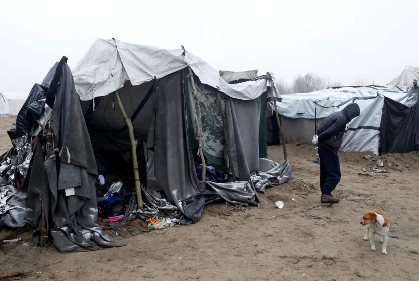 Kondisi pengungsi Suriah di perbatasan Hungaria.