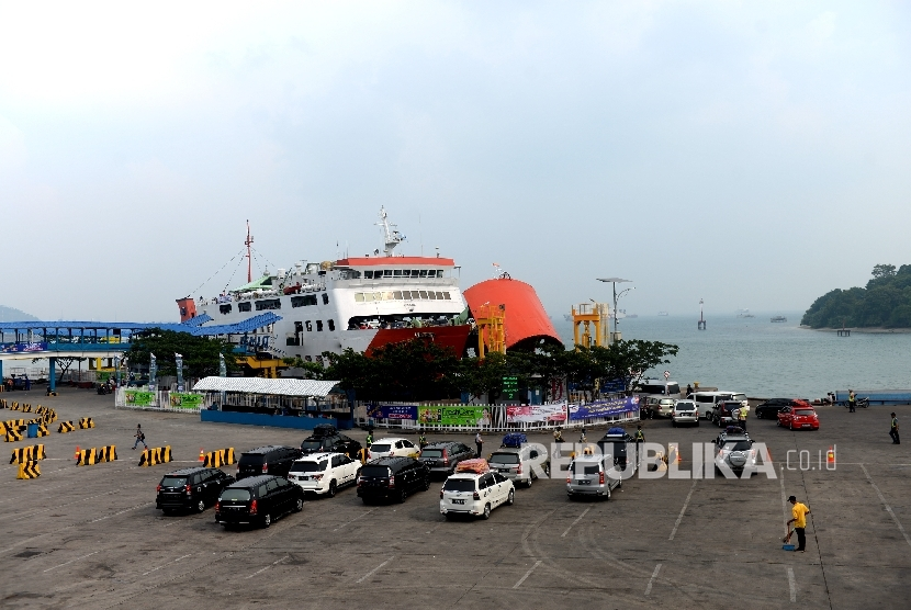 Pemudik Pelabuhan Merak, Banten. (ilustrasi)