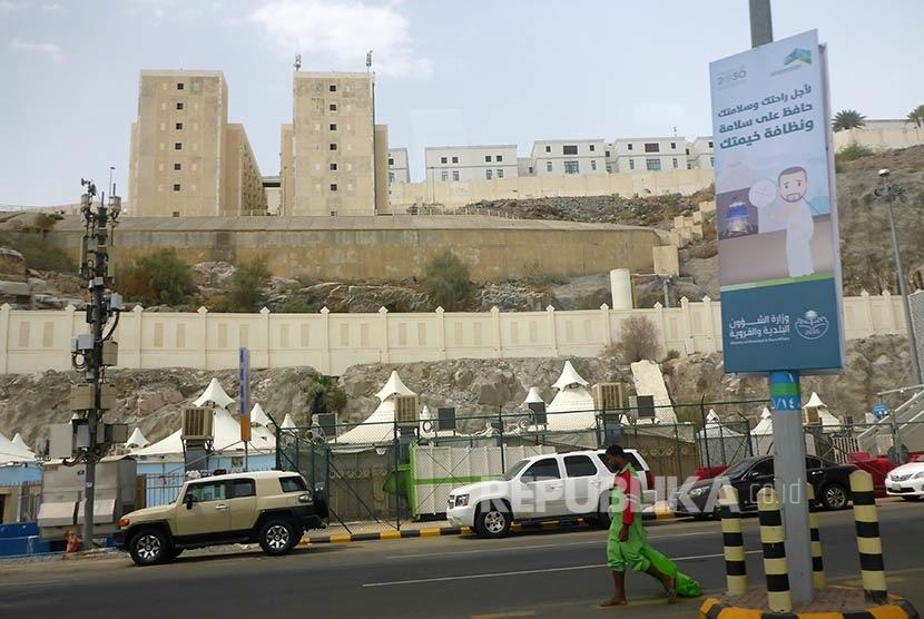 Kondisi terkini di Arafah, Makkah, Kamis (24/8), menjelang pelaksanaan ibadah wukuf pada tanggal 9 Dzulhijah 1438 H atau 1 September mendatang.