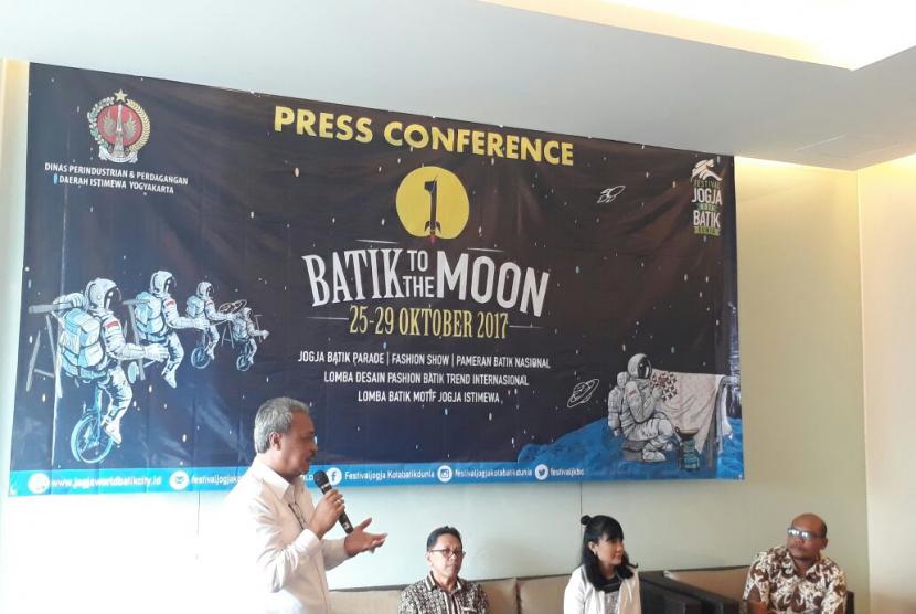Konferensi pers rencana penyelenggaraan Festival Jogja Kota Batik Dunia.