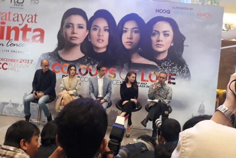 Konferensi pers untuk konser dari lagu film Ayat-Ayat Cinta 2, Senin (27/11).