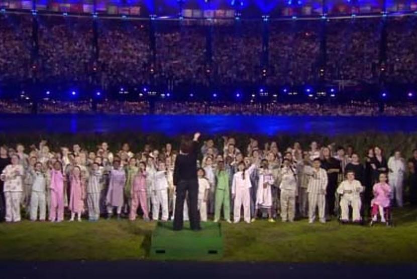 Koor anak-anak dalam pembukaan Olimpiade London 2012
