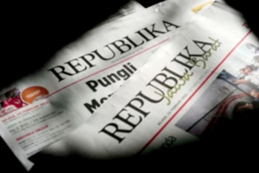 Hasil gambar untuk foto koran republika
