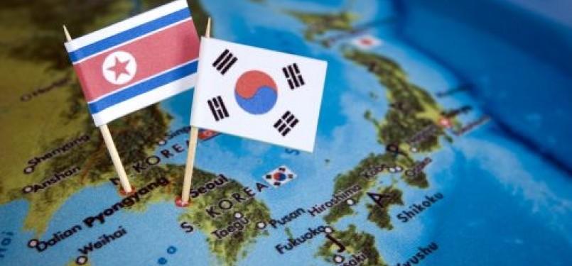 Korea Utara dan Korea Selatan (ilustrasi)