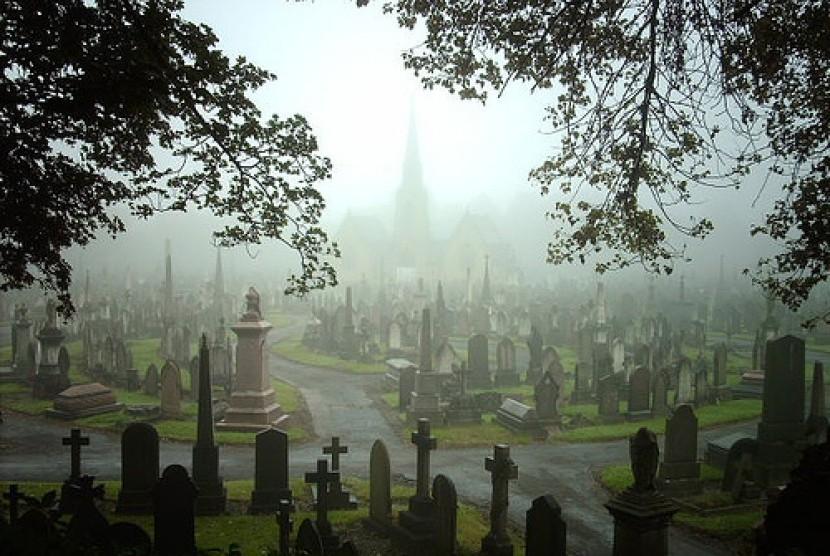Kuburan non-Muslim (ilustrasi).