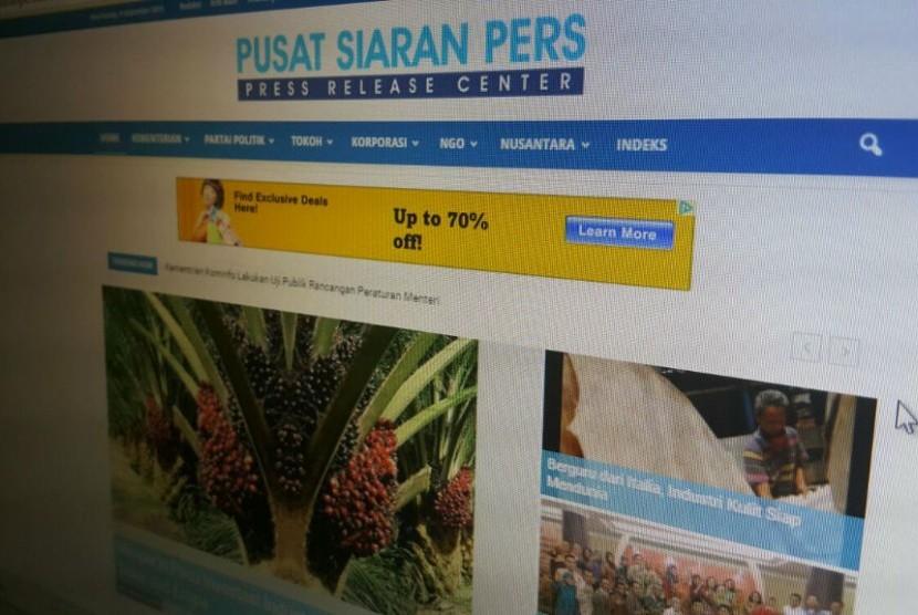 Laman Pusat Siaran Pers.