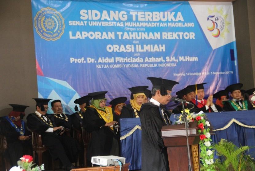 Laporan Tahunan Rektor UM Magelang dan Orasi Ilmiah.