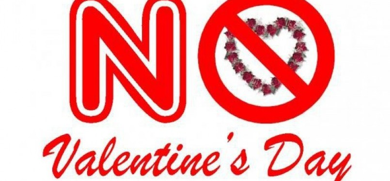 Larangan merayakan valentine's day (ilustrasi)
