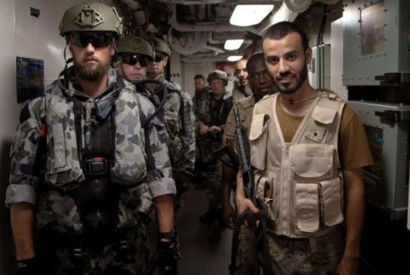 Latihan gabungan antara Angkatan Laut Australia dan Angkatan Laut Arab Saudi berlangsung bulan Agustus lalu.