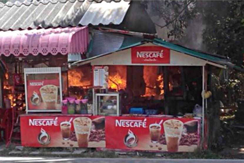 Ledakan bom di Thailand Selatan.