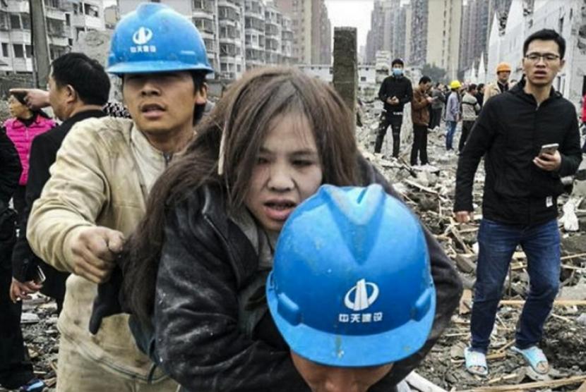 Ledakan Guncang Pelabuhan Ningbo di Cina