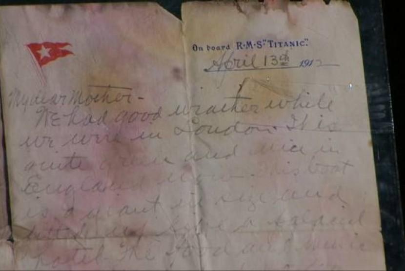 Surat Salah Satu Korban Kapal Titanic Terjual Rp 1,417 Miliar