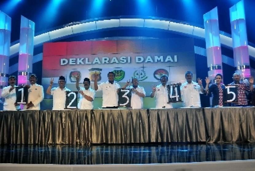 Lima pasangan pasangan calon gubernur (cagub) dan calon wakil gubernur (cawagub) Jabar 2013