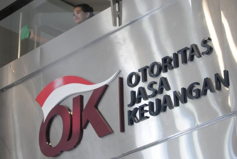 Logo of Financial Service Authority or Otoritas Jasa Keuangan (OJK) in Indonesian language. (illustration)
