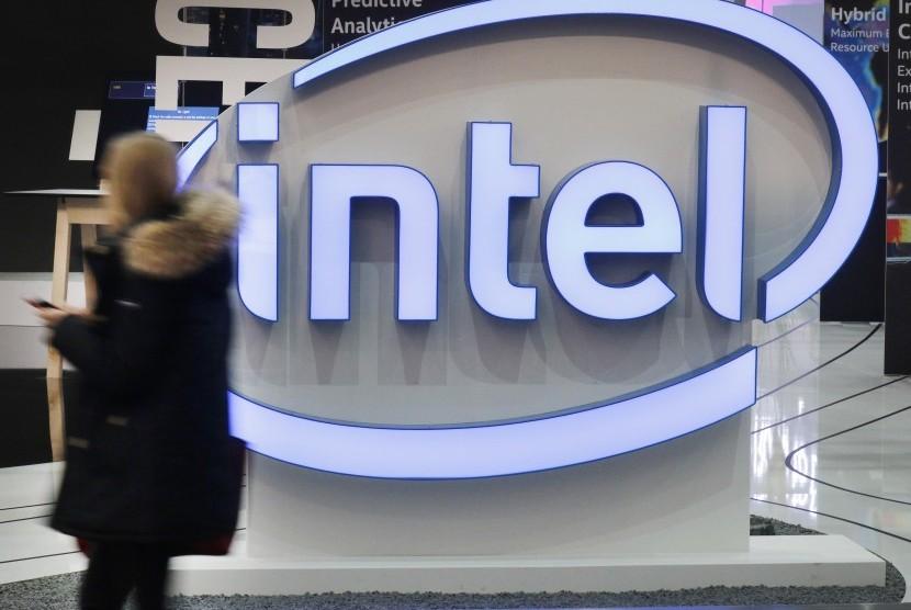 Logo perusahaan Intel.