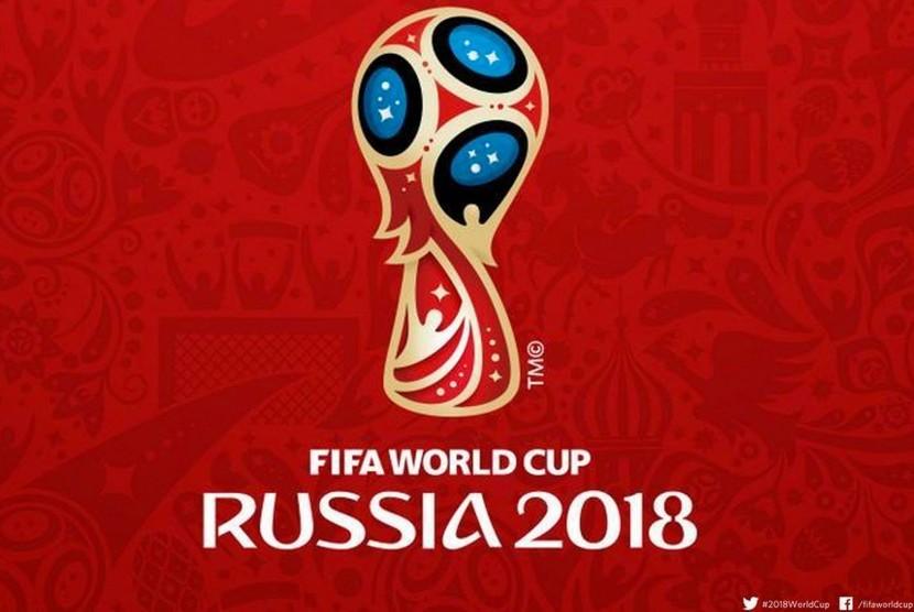 Logo Piala Dunia 2018 di Rusia.