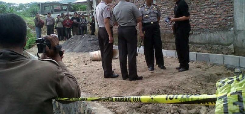 lokasi bom pipa Semarang diamankan aparat kepolisian