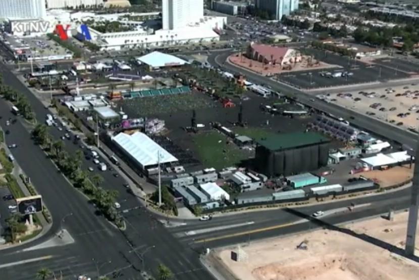 Lokasi penembakan di Las Vegas, AS