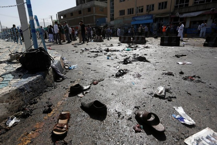 Lokasi serangan bom di Kabul, Afghanistan (ilustrasi).