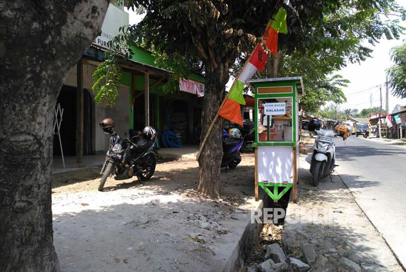 Lokasi tempat warga membakar MA yang diduga mencuri ampli mushola, Muara Bakti, Babelan, Kabupaten Bekasi.