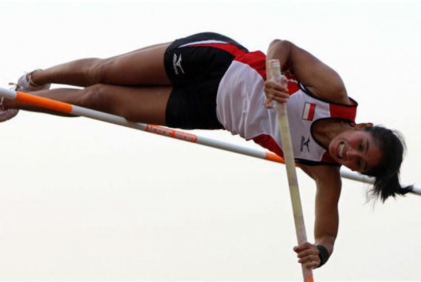Lompat galah (ilustrasi)
