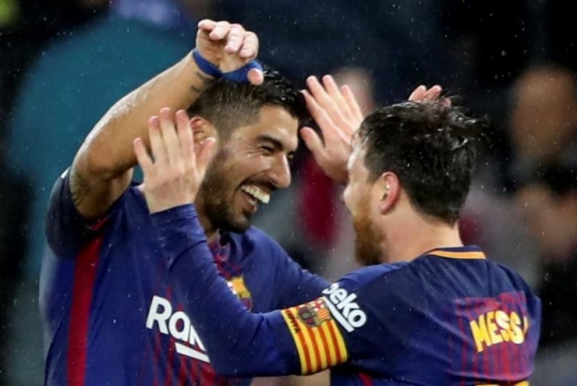 Suarez Bangga Barcelona tak Menyerah Sampai Akhir