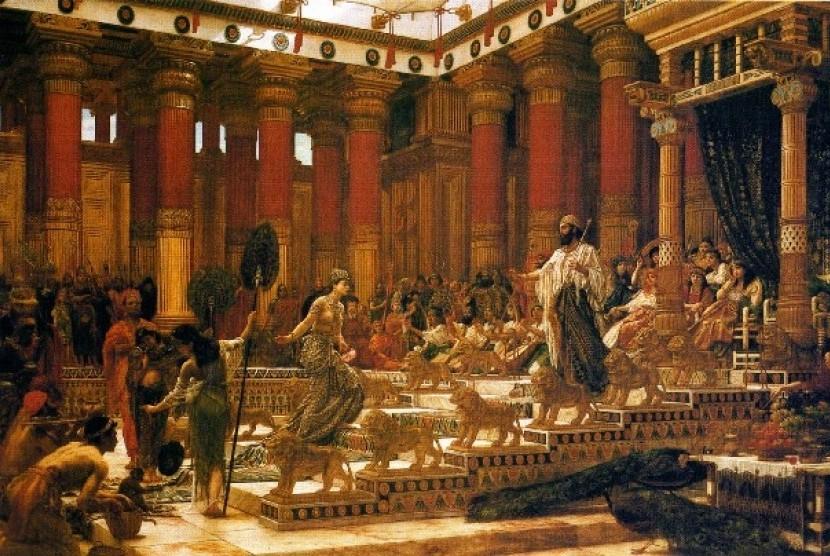 Lukisan yang menggambarkan pertemuan antara Ratu Sheba dan Nabi Sulaiman