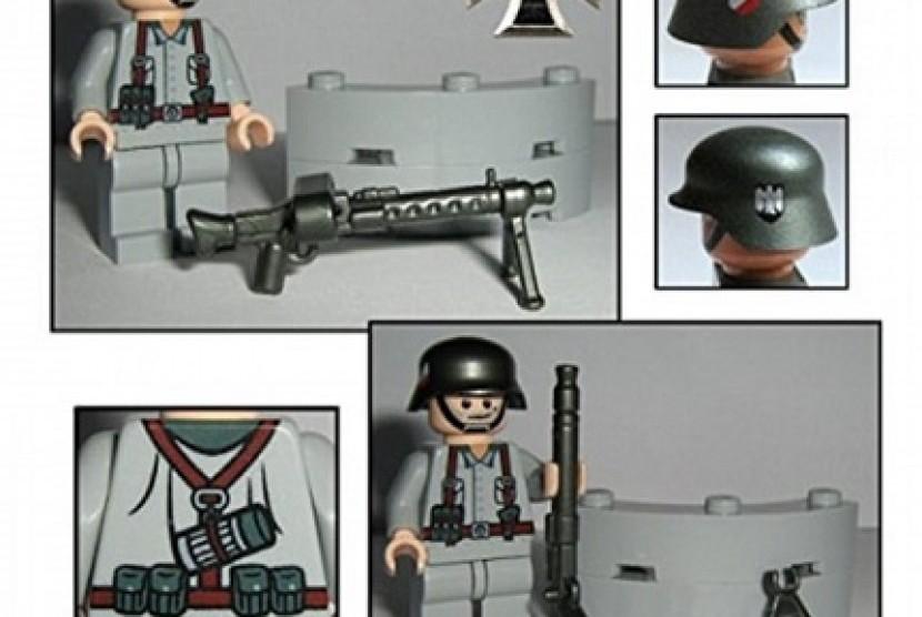 Mainan tentara Nazi produksi Lego yang dijual di situs Amazon menuai protes warga Jerman.