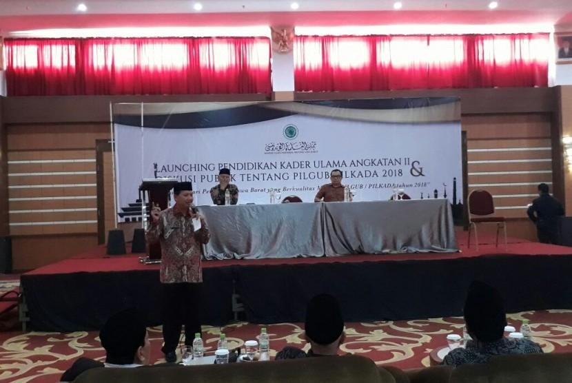 Majelis Ulama Indonesia (MUI) Jabar, menggelar pendidikan kader ulama angkatan II, Kamis (19/10) di Hotel Asrilia Kota Bandung.