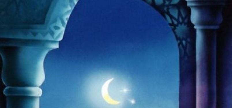 Malam bulan Ramadhan, ilustrasi