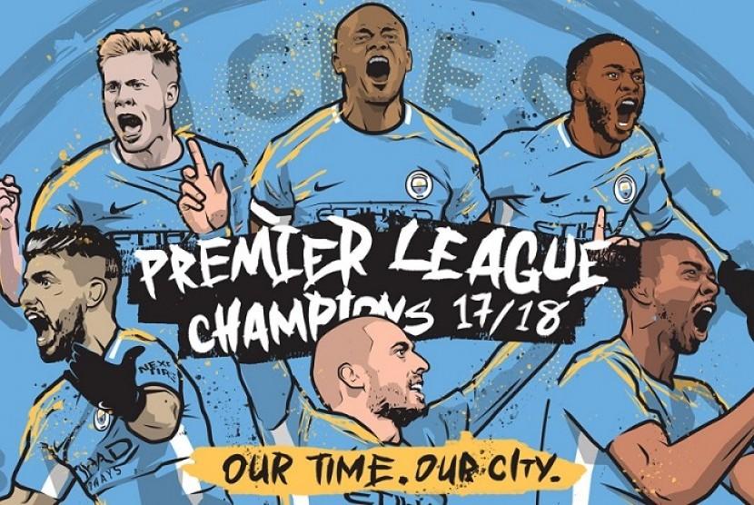 Manchester City juara Liga Primer Inggris musim 2017/2018