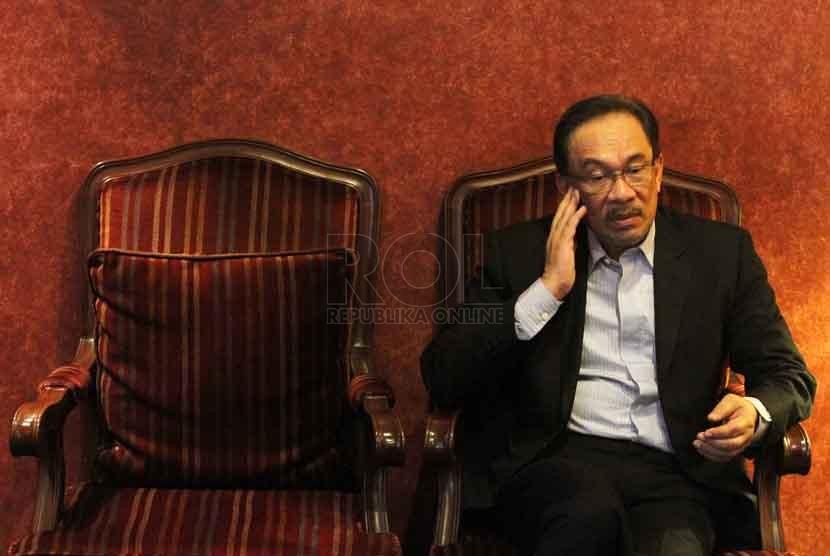 Mantan Wakil Perdana Menteri Malaysia Dato Seri Anwar Ibrahim. (Republika/ Yasin Habibi)