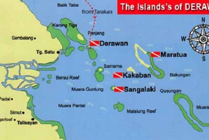 Map of Derawan