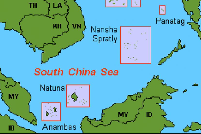Peta Kepulauan Nauna, Provinsi Kepulauan Riau