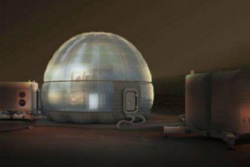 Mars Ice Home. Konsep rumah di Mars yang dibuat NASA.
