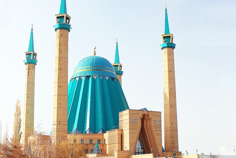 Mashkur Jusup Central Mosque at Kazakhstan