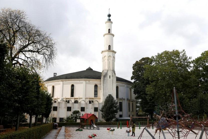 Masjid Agung Brussels di Belgia, 3 Oktober 2017.