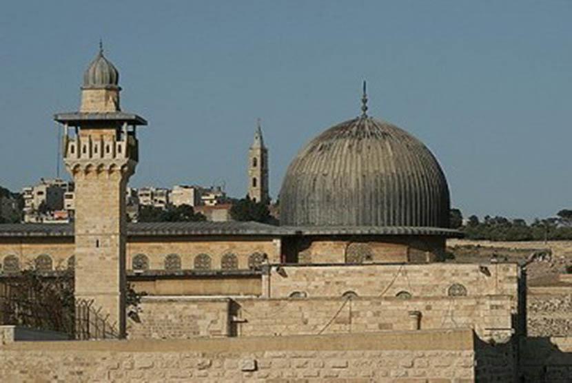 Masjid Al-Aqsha di Baitul Maqdis, Palestina.