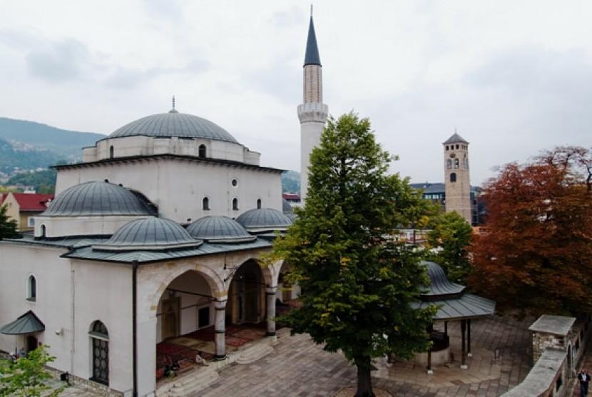Fondasi Ottoman di Masjid Gazi Husrev Beg