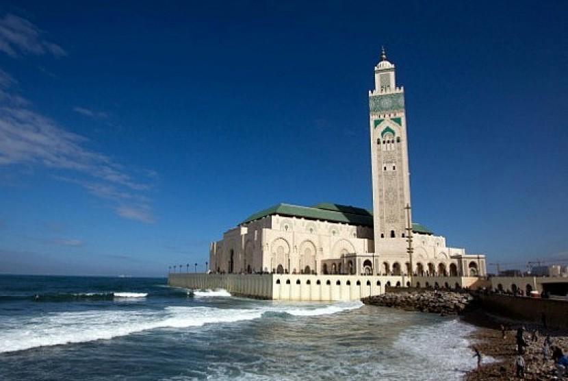 Masjid Hasan II di Casablanca, Maroko.