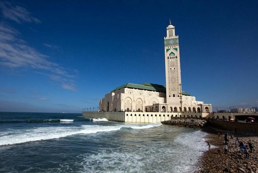 Masjid Hassan II Maroko.